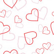 Vector de stock : Seamless heart pattern