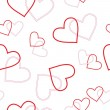Seamless heart pattern — Stockvectorbeeld