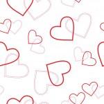 motif coeur transparente — Vecteur