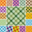 Seamless plaid patterns — Stock vektor