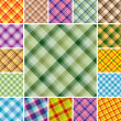 Seamless plaid patterns — ストックベクタ