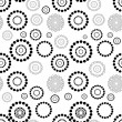 Seamless circle pattern — Stock Vector