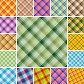 Seamless plaid patterns — Stock Vector