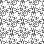 Seamless circle pattern — Stock Vector