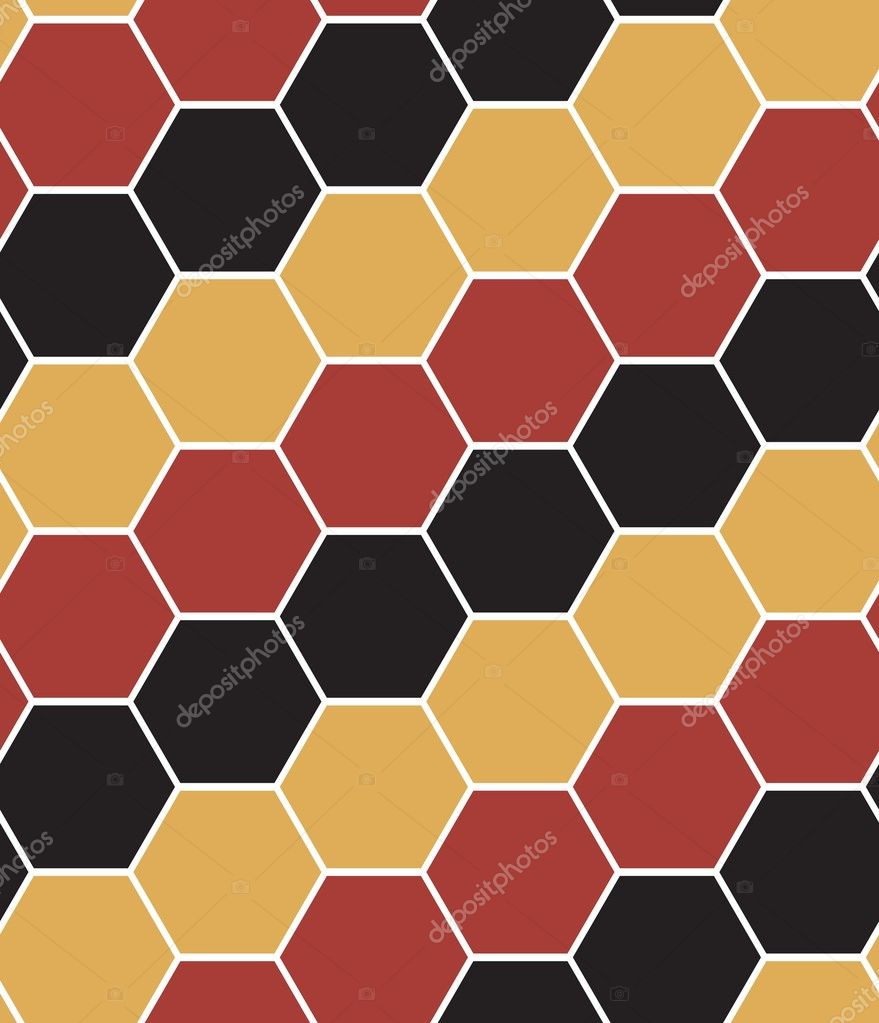 Hexagon tiles. Seamless vector pattern — Stock Vector #2829274