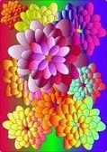 Vivid flowers — Stock Vector