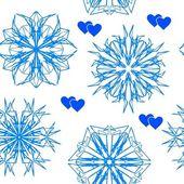 Patrón sin costuras copo de nieve — Vector de stock