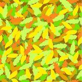 シームレスな葉パターン — ストックベクタ