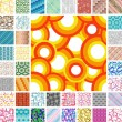 Seamless retro patterns — Stock Vector
