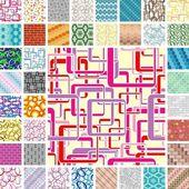 Seamless retro patterns — Stock Vector