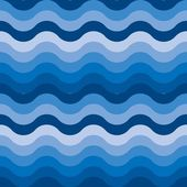 Seamless water wave pattern — Stock Vector