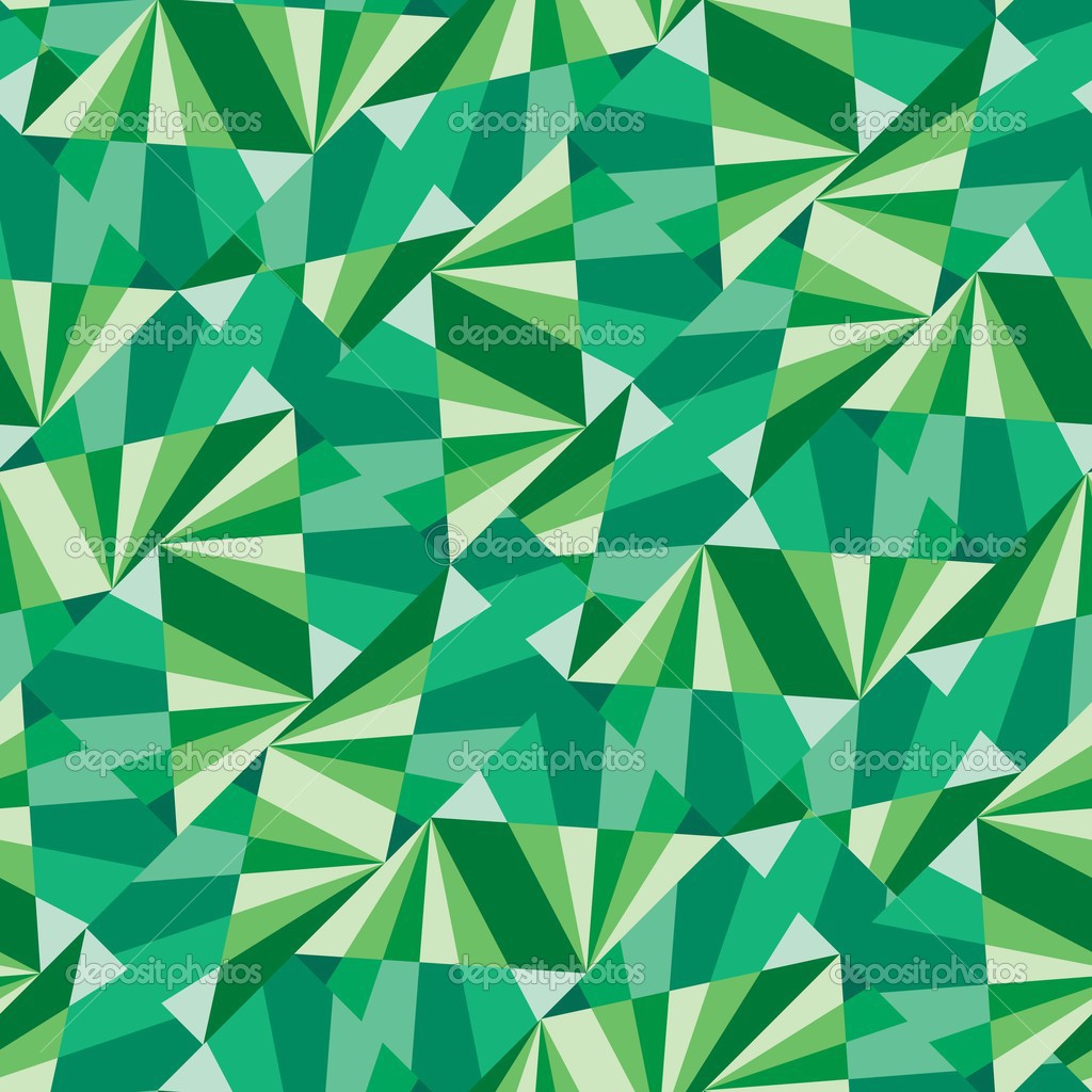 Seamless pattern with green tiles  Stock Vector #3012582