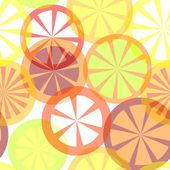 Sömlös citrus mönster — Stockvektor