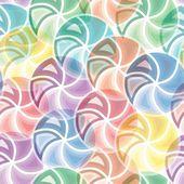 シームレスな鮮やかな渦巻き模様のパターン — ストックベクタ