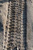 Tire track — Stock Photo