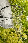 Stary koszykówki netto — Zdjęcie stockowe
