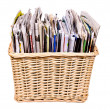 Basket with magazines - Stock Photo