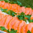 Stock Photo: Sliced salmon fillet