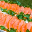 Sliced salmon fillet - Stock Photo
