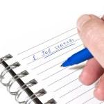 Writing down a job search plan — Stock Photo #2759077