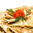 Stock Photo: Fresh pancakes decorated