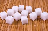 White sugar cubes — Stock Photo