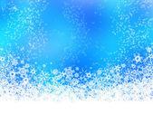 White snowflakes on blue background — Stock Photo