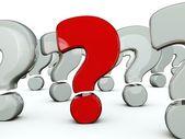 Símbolo rojo pregunta — Foto de Stock