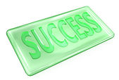 Transparent success green ingot — Stock Photo