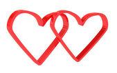两颗红色的心 — 图库照片