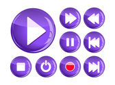 Set of play icons — Stock Vector
