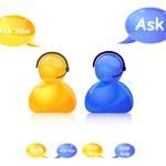 Pergunte ao ícone de ajuda. Agente telefone — Foto Stock