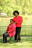 Two older black women — Stock Photo