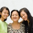 Stock Photo: Asifamily women generation