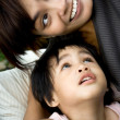 Happy asian mother and son — Stock Photo #3820454
