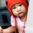 Cute baby with curious look — Stock Photo