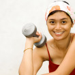 Royalty-Free Stock Photo: Happy fitness asian young woman