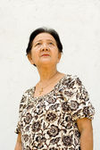 Asian ethnic elderly woman — Stock Photo