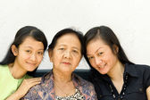 Asian family women generation — Stock Photo
