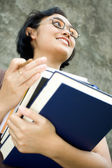 Smart and confident female college student — Stock Photo