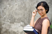 Asian female college teacher — Stock Photo