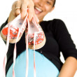 Pregnant woman happy expecting - Stock Photo