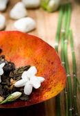 Dried jasmine tea ornament — Stock Photo