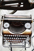Old antique vintage typewriter — Stock Photo