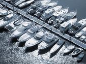 Row of motorbykes — Stock Photo