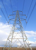 Electricity pylon — Stock Photo