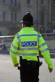 Policeman on patrol — Stockfoto