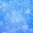 Blue and white snowflake pattern — Stock Photo #3317635