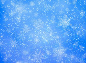 Blue and white snowflake pattern — Stock Photo