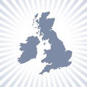 Verenigd koninkrijk en ierland kaart — Stockfoto